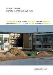 byggeteknisk erfaringsformidling 2008 - Byggeskadefonden