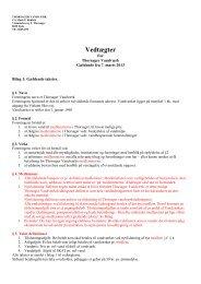 Forslag til nye Vedtægter - Thorsager