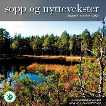 Nr 4 - 2008 i sin helhet - Norges sopp- og nyttevekstforbund