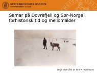 Samar på Dovrefjell og Sør-Norge i forhistorisk tid og ... - Maihaugen