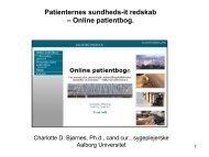 Se slides fra oplægget om Online patientbog her