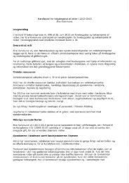 Handleplan for bekæmpelse af rotter i 2013-2015 Ærø Kommune.