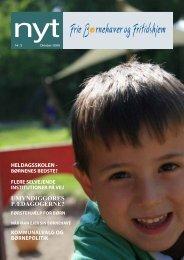 Hent NYT, oktober 2009 - Frie Børnehaver og Fritidshjem