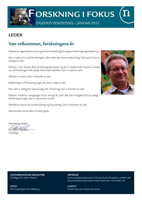 Forskning i Fokus - Sygehus Vendsyssel