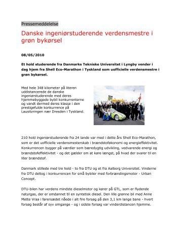 Danske ingeniørstuderende verdensmestre i grøn bykørsel