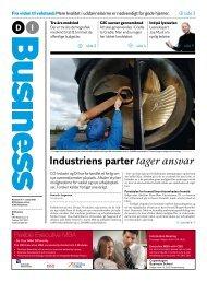 Industriens parter tager ansvar - Dansk Industri