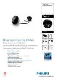 SHB7110/10 Philips Bluetooth-stereoheadset - MobilityShop