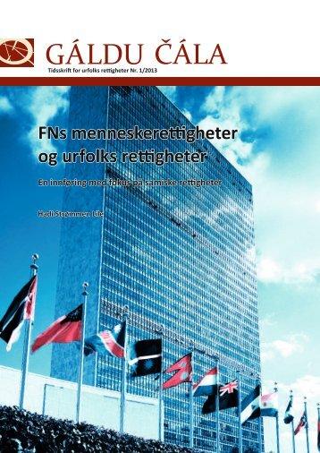 FNs menneskerettigheter og urfolks rettigheter - Gáldu - Resource ...