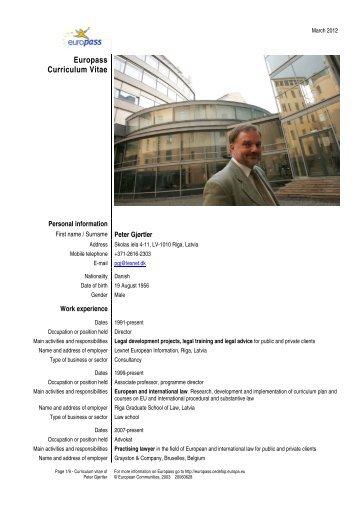 Europass Curriculum Vitae - Lexnet
