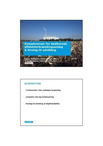 Perspektiver for ændring af energiafgiften, v. Tore Hulgaard ... - Dakofa