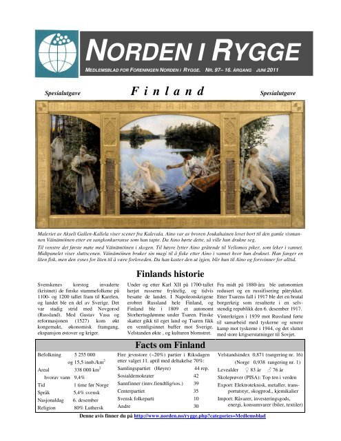 Norden i Rygge nr 97 - Forsiden - Foreningen Norden