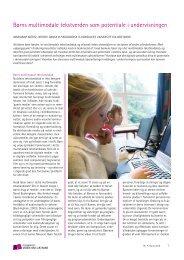 Børns multimodale tekstverden som potentiale i - Viden om Læsning