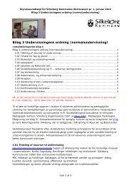 Bilag 3: Undervisningens ordning, normalundervisning (pdf)
