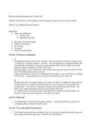 Referat af bestyrelsesmøde den 19 April 2013