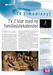 TV 2 klar med ny familiejulekalender
