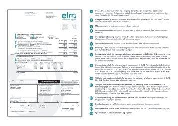 elregningens enkelte poster - ELRO Net A/S