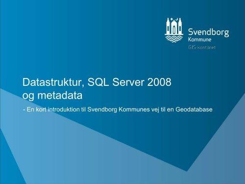 etablering af en central SQL Server løsning til geografiske data