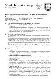 Referat af bestyrelsesmøde d. 13/03-2013 - Varde IF