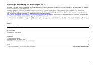 Statistik på ajourføring 2013 nr. 2 - marts - april - Danmarks Miljøportal