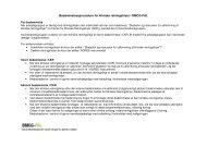Bedømmelsesprocedure for kliniske retningslinjer i DMCG-PAL