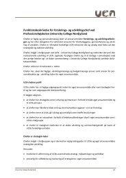 Funktionsbeskrivelse - University College Nordjylland