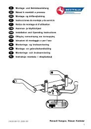 Renault Kangoo, Nissan Kubistar D Montage- und Betriebsanleitung ...