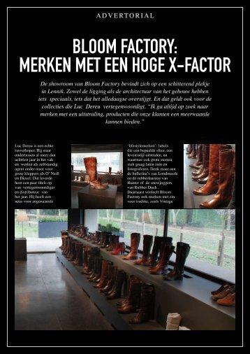 BLOOM FACTORY: MERKEN MET EEN HOGE X-FACTOR