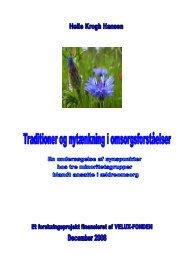 Hent rapporten om traditioner og nytænkning i omsorgsforståelser ...