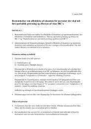 Bestemmelser om afholdelse af eksamen for personer der skal ud ...