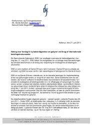 Høringssvar om gebyrer ved brug af internationale ... - DSK
