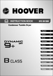 40006532 INST BOOK DYC 8913BX-S 12L - Hoover