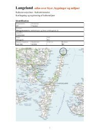 Langeland -atlas over byer, bygninger og miljøer