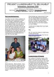 2009 nyhedsbrev december PDF udgave - Projekt U-landshjælp til ...