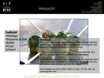 Menukort middag 2012 PDF - VIP A/S