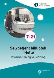 Læs folderen Selvbetjent bibliotek i Holte (pdf). - Rudersdal ...