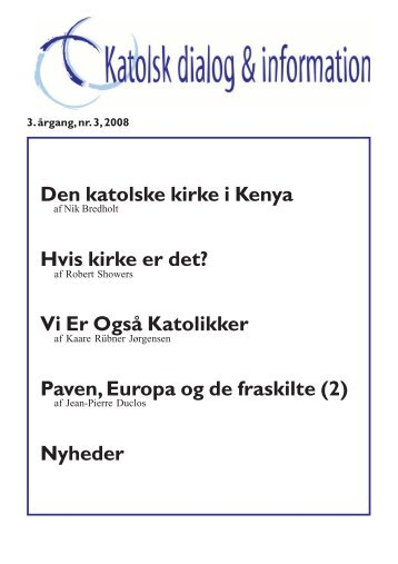3/2008 - Katolsk dialog & information