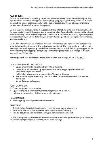 Pluk og blog (PDF) - Danmarks Medie- og Journalisthøjskole