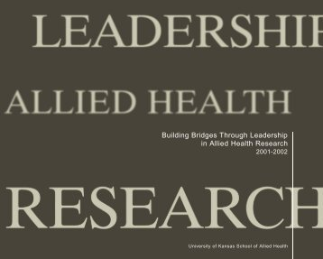 Building Bridges Through Leadership in Allied Health Research