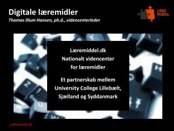 Digitale læremidler - Uddannelsesforum 2012