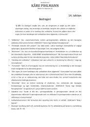 14. lektion (bedrageri, afpresning og røveri) - advokatfirmaet kåre ...