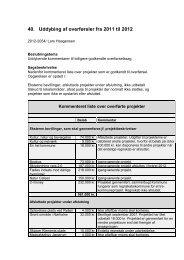 40. Uddybing af overførsler fra 2011 til 2012 - Jammerbugt Kommune