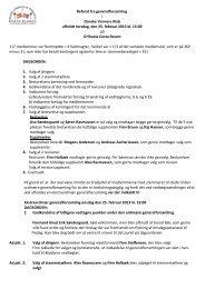 Referat fra generalforsamling - Danske Venners Klub, Torrevieja