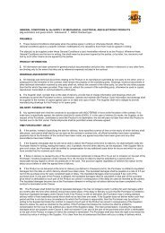 GENERAL CONDITIONS for the SUPPLY OF MECHANICAL ...