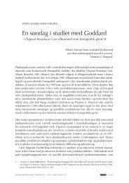 En søndag i studiet med Goddard - dansk musikforskning online