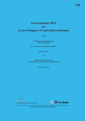 Arcus-Gruppen AS med datterselskaper 2012 - NHO Mat og Drikke