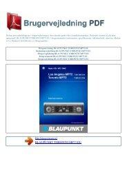 Brugsanvisning BLAUPUNKT TORONTO MP73 EU