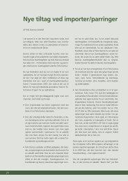 Nye tiltag ved importer/parringer - Felis Danica