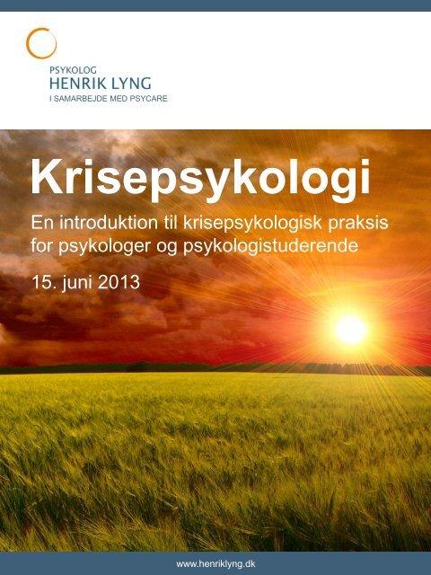 Krisepsykologi - Psykolog Henrik Lyng