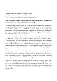 Produktansvar og produktansvarsforsikring. - Danske Prydplanter