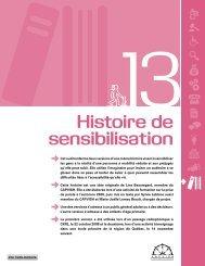 outil 13 : Histoire de sensibilisation - CAPVISH